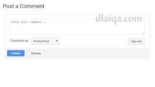 Pengaturan Komentar Di Blogspot
