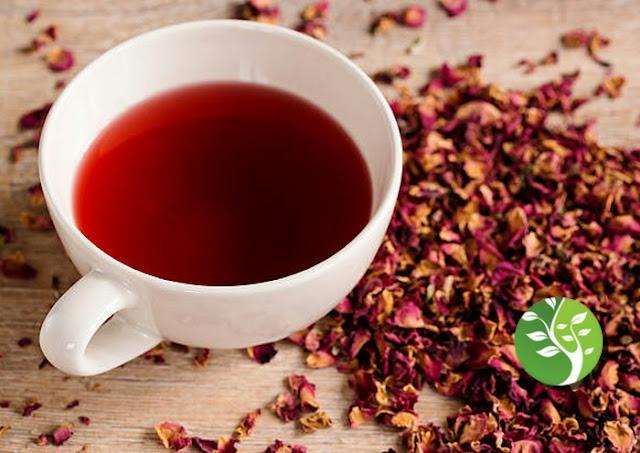 شاي الورد لعلاج  الالتهابات وتعزيز المناعة  وانقاص الوزن
