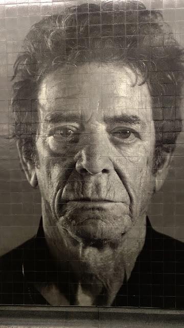 """Чак Клоуз. Портрет Лу Ріда. Станція метро """"86th Street"""". Нью-Йорк (Portrait of Lou Reed. Chuck Close.""""86th Street"""" station. NYC)"""