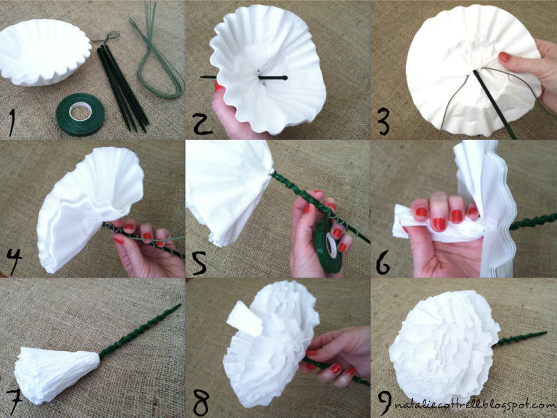 Use Your Words, Little Girl: DIY Coffee Filter Flowers