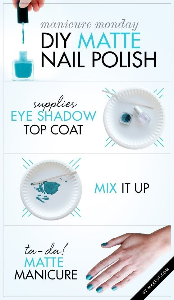 Make own matte polish with a little