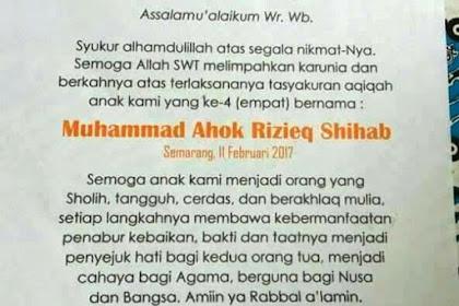 Heboh! Bayi Muhammad Ahok Rizieq Shihab Lahir di Semarang