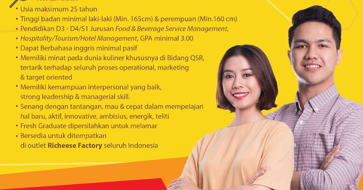 Richeese Factory Jobs News August 2018 Hotelier Indonesia Jobs