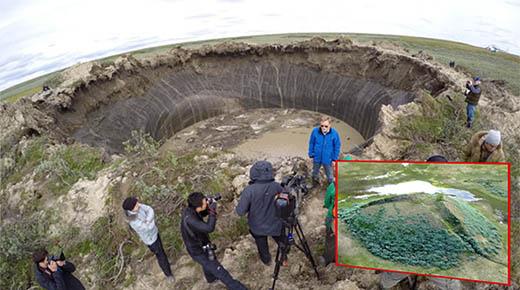 7,000 agujeros gigante más se abrirán pronto en Siberia, predicen los expertos