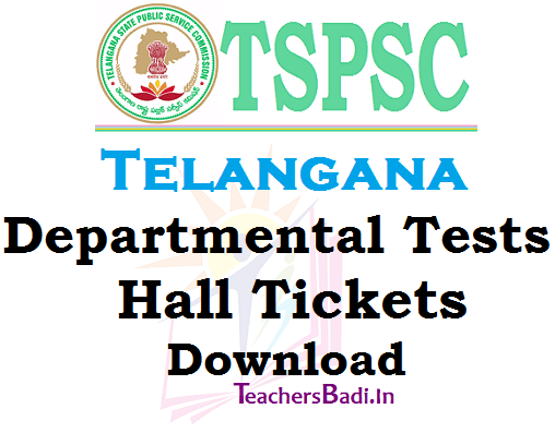 TSPSC Departmental Tests,Hall Tickets,November November session