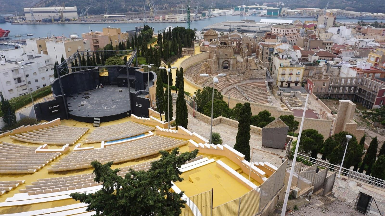 nowy amfiteatr tuż przy Teatro Romano, Kartagena, Kartagena atrakcje, prowincja Murcja,  Costa Calida