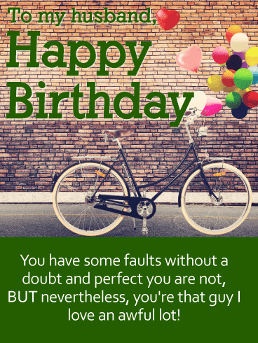 Send this To my Beloved Husband – Happy Birthday Wishes Card