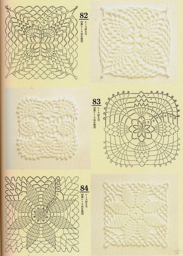 Motivos de Crochê Com Gráficos 03