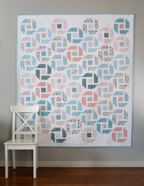 Cheer Up quilt by Andy of A Bright Corner - using Wanderings fabrics from Poppie Cotton