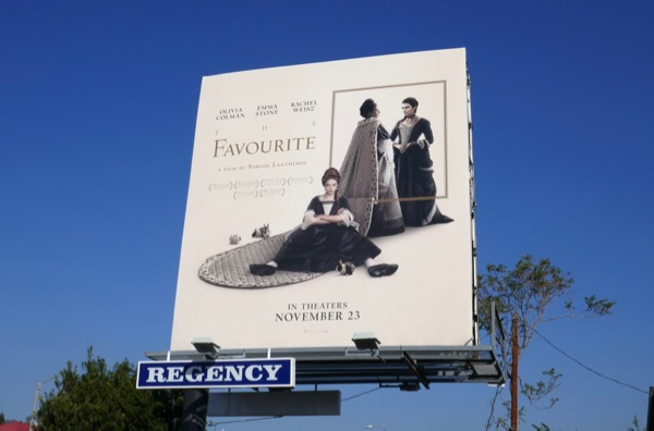 The Favourite movie billboard