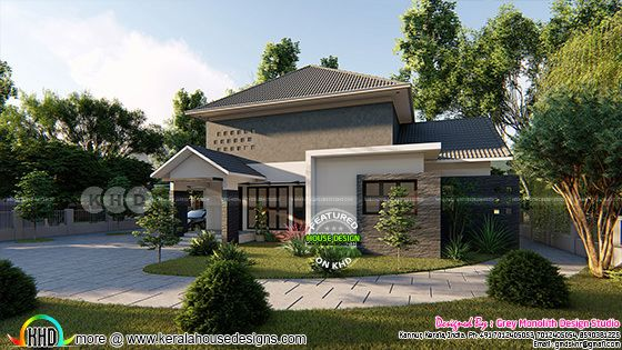 Sober colored 3 bedroom modern house