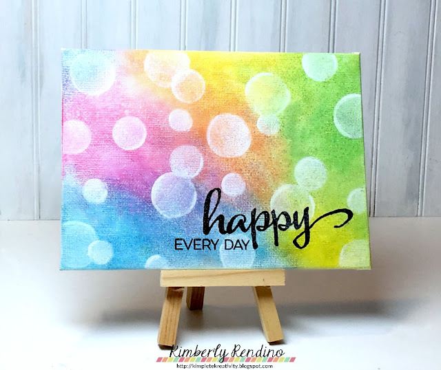 happy canvas | gelatos | bokeh |  faber castell | winnie & walter | kimpletekreativity.blogspot.com