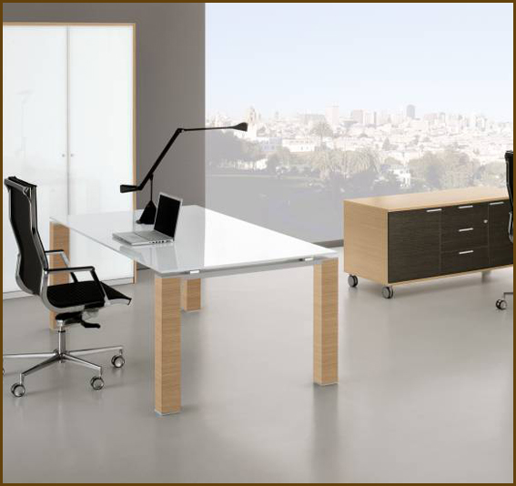Sketchup Texture Model Office Furniture Executive Desk Gl
