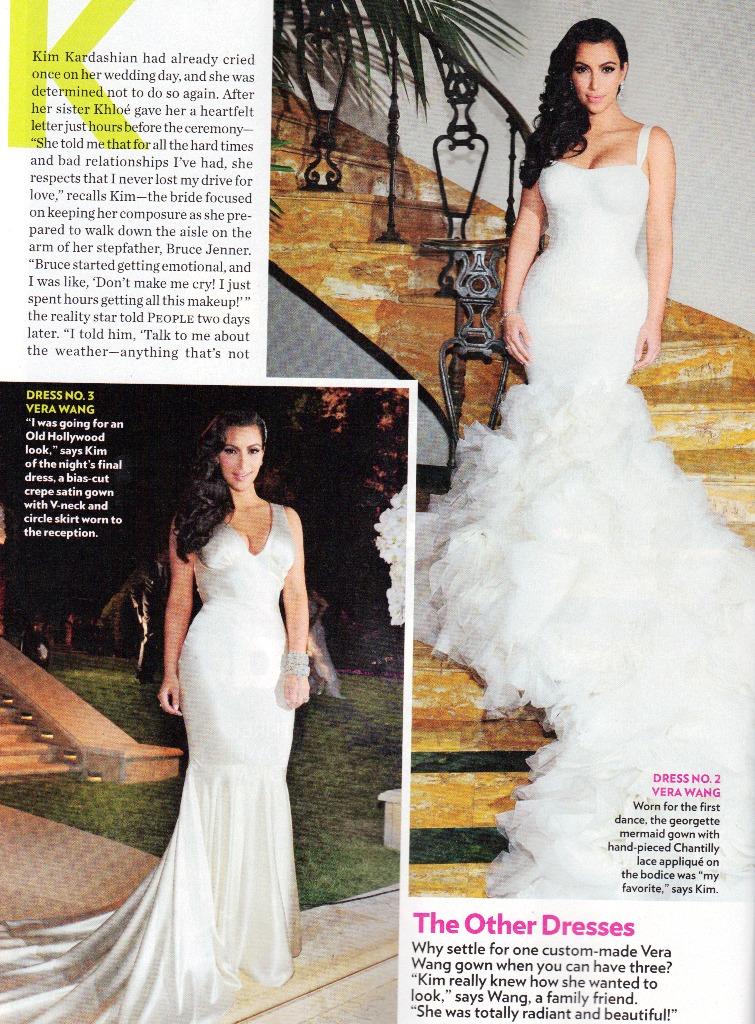 1001 fashion trends: Kim Kardashian Wedding Dresses