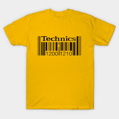 technics1200 1210 gold barcode tee