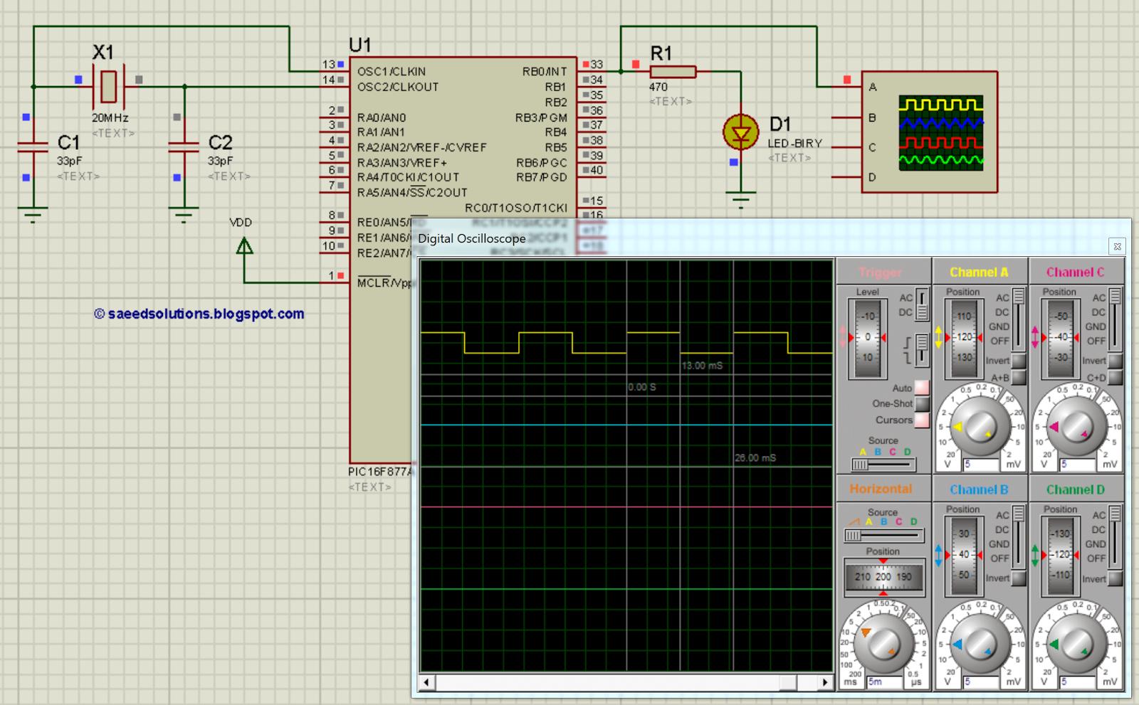 Calculator Build Using Pic16f877a Microcontroller Circuit Diagram