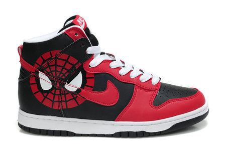 super popular 5c2f9 501f0 Comic Spider man Shoes Custom Nike Dunk For Sale