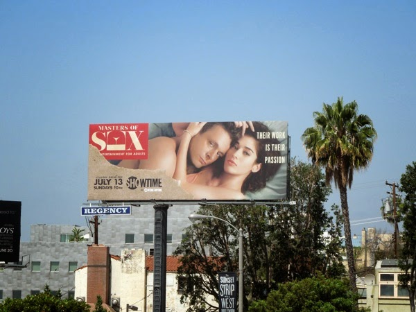 Masters of Sex season 2 billboard Sunset Strip