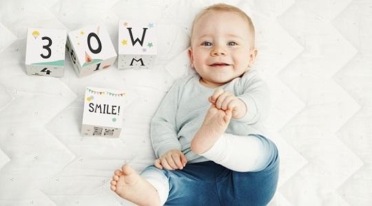 Milestone age blocks for newborns
