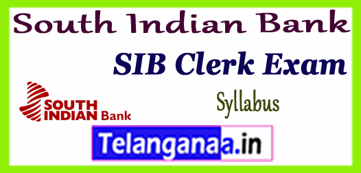 South Indian Bank Clerk Syllabus 2017-18 Sample Model Previous Solved Papers