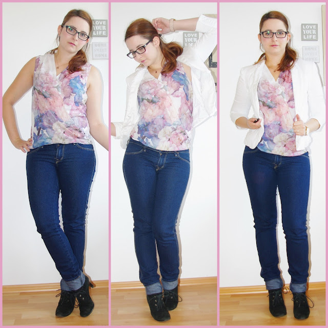 [Fashion] Pastell Love: Chiffon Blouse & Jeans