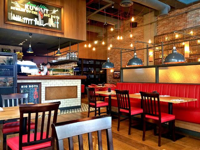 Interiors of Burger & Lobster, Kuwait