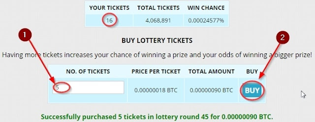 Lottery Ticket Karid Le