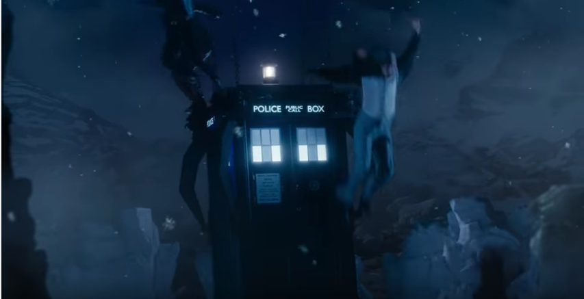 Twice Upon A Christmas Doctor Who.Whoogle Escaping In The First Doctor S Tardis Christmas