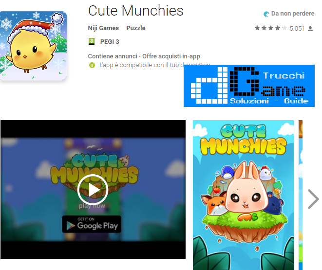 Trucchi Cute Munchies Mod Apk Android v2.3.1