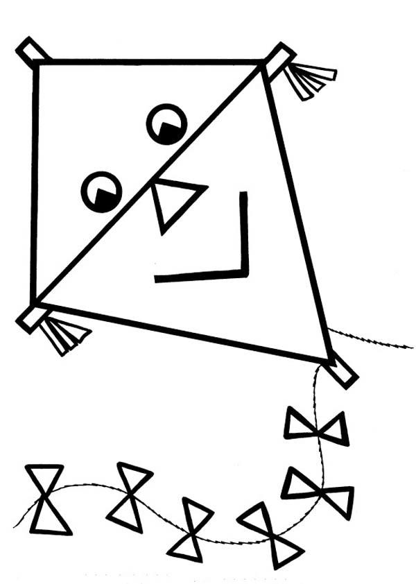gambar mewarnai layanglayang untuk anak paud dan tk