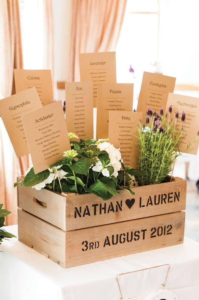 Cajas de madera para decorar una boda - Como decorar cajas de madera para centros de mesa ...