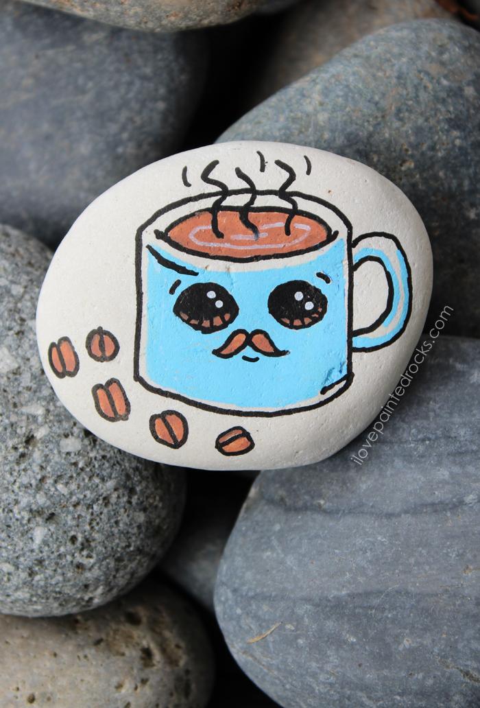 How to paint a cute coffee mug with a mustache i love for How to paint a mug