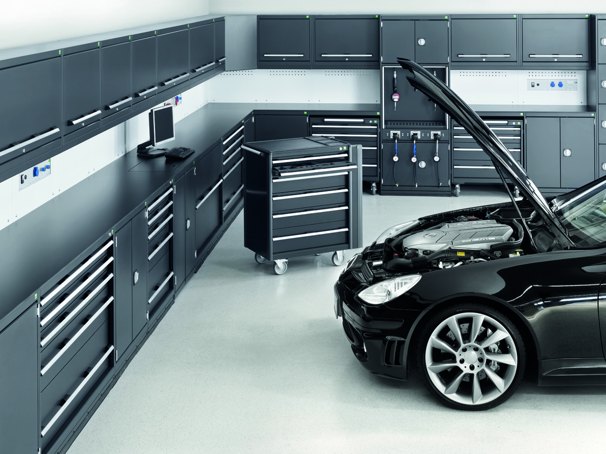 bott am nagement de garage automobile. Black Bedroom Furniture Sets. Home Design Ideas
