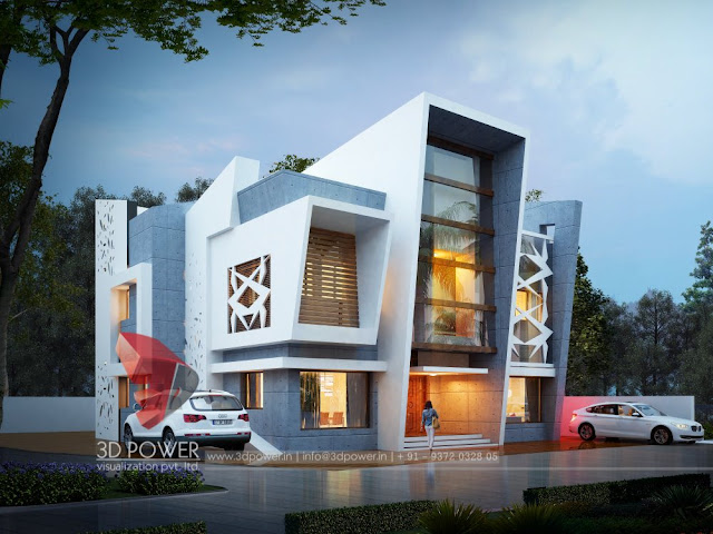 Floor Front Elevation Network : Ultra modern home designs