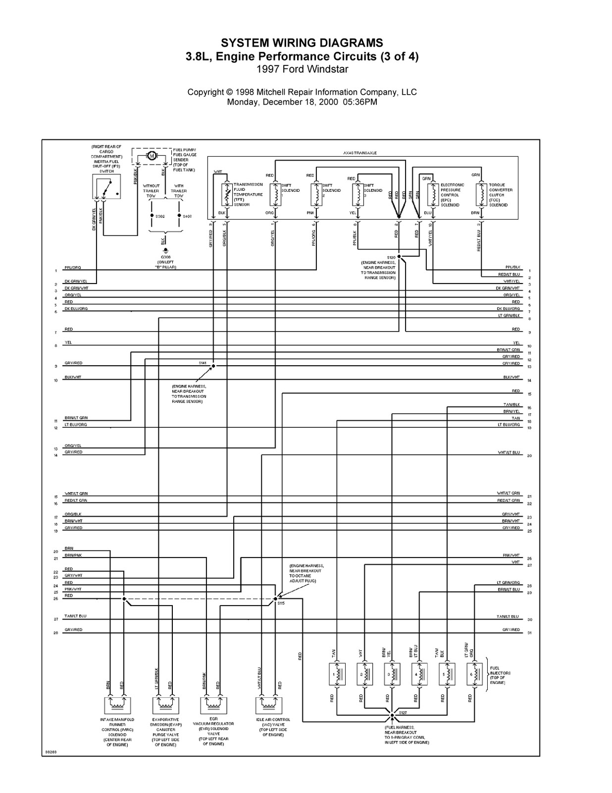 Ford Windstar Electrical Wiring Diagrams Real Diagram 2003 1997 Complete System 2000