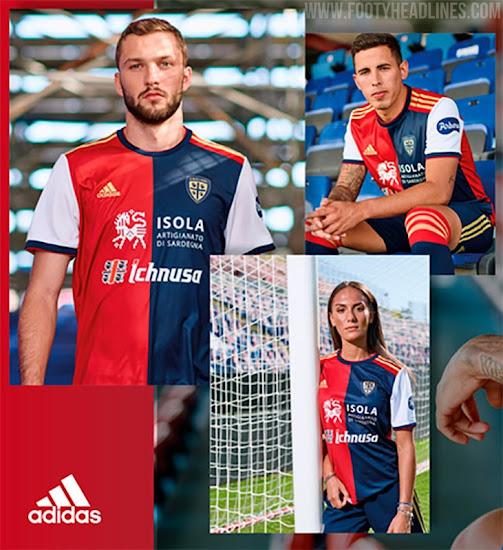 Adidas Cagliari 20-21 Home & Away Kits Released - Footy Headlines