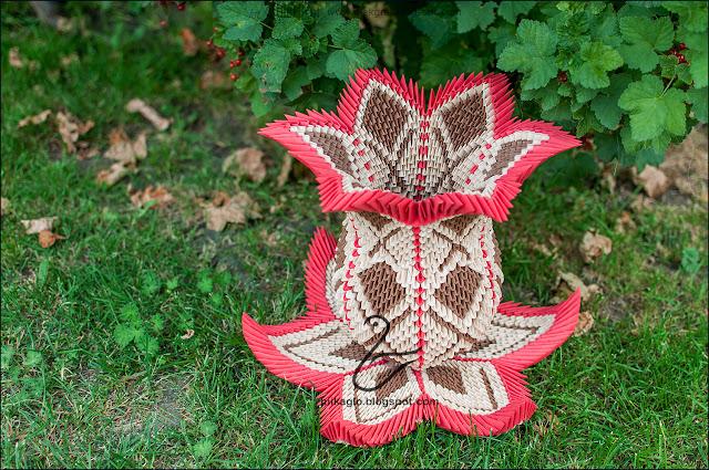 578. Waza Lotos z origami / 3d origami vase