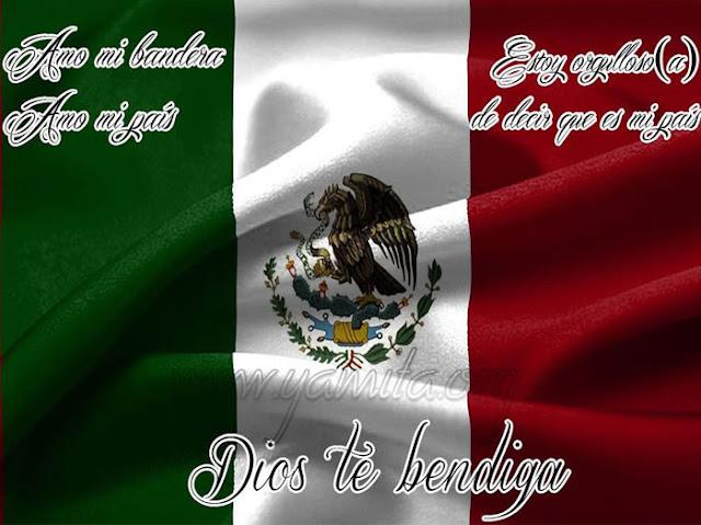 Amo mi bandera, Amo mi país, Estoy orgulloso(a) de decir que es mi país. Dios te bendiga