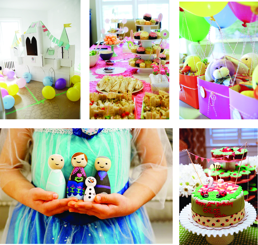 princess tea party frozen lady bug hot air balloon party