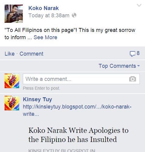 Thai Expat S Racist Remarks On Ph Koko Narak Kosin