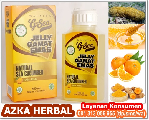 Agen Resmi Walatra G-Sea Jelly Gamat Emas Rasa Jeruk (AZKA HERBAL)