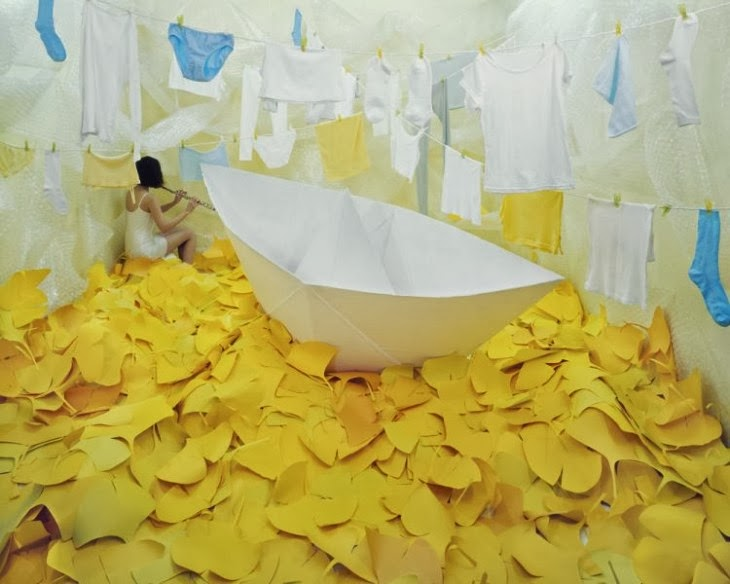 fotografía surrealista con asiatica