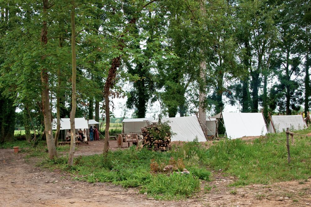le camp viking du parc historique d'Ornavik à Hérouville Saint Clair près de Caen