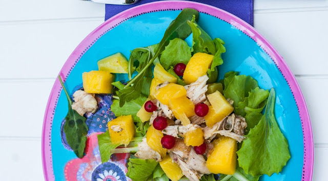 Chicken, Pineapple, & Mango Salad