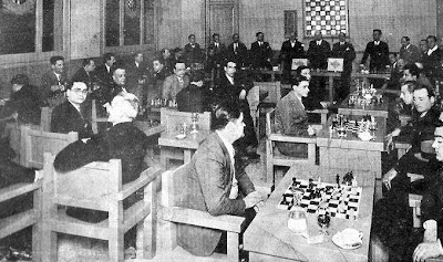 Homenaje del Club Ajedrez Barcelona a los directivos de la Federación Catalana d'Escacs en febrero de 1931
