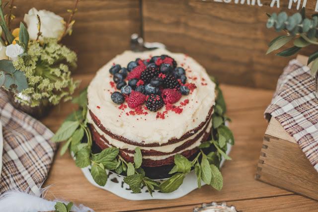 tarta de boda otoño