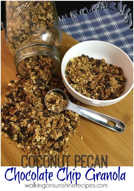Coconut Pecan Chocolate Chip Granola Recipe