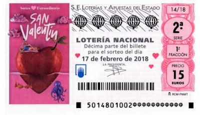 decimos loteria nacional del sabado 17 febrero