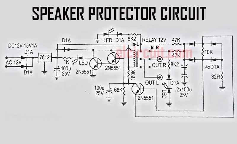 speaker%2Bprotector%2Bcircuit%2Bdiagram%2B2%2Btransistor speaker protector 3 transistors electronic circuit