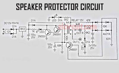 Speaker Protector Circuit 3 Transistor